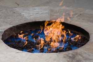 "What do you think of when you hear the words, ""outdoor fireplace""?"