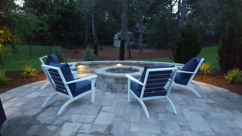Fire Pit Installation Project in Navarre
